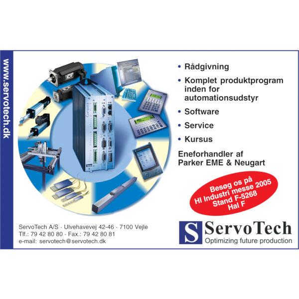 ServoTech Annonce HI Industri messe 2005