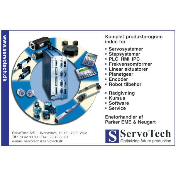 ServoTech Annonce Produktcirkel 2005