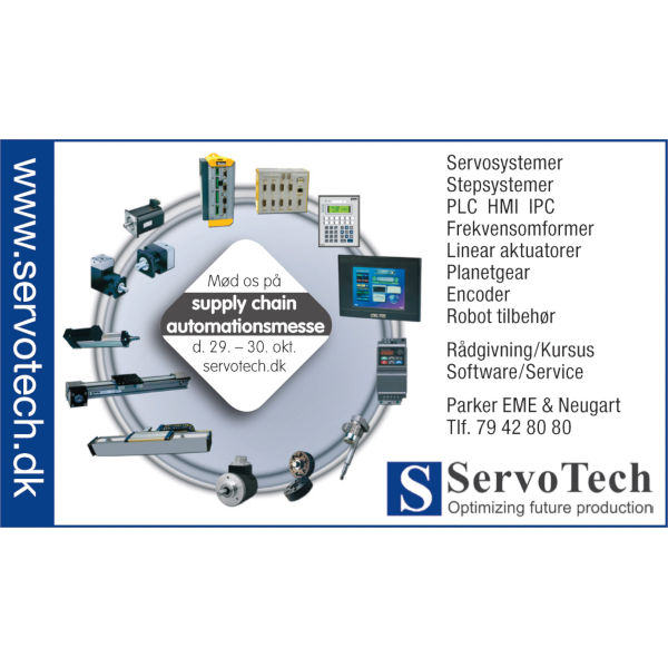 ServoTech Annonce Supply Chain automationsmesse 2008