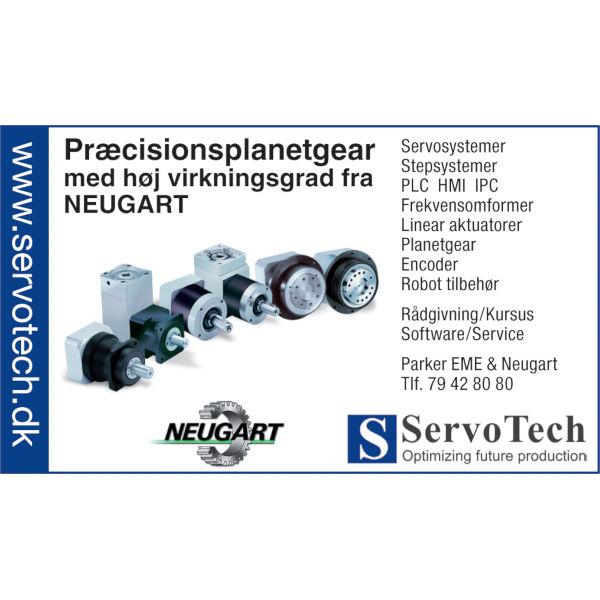 ServoTech Annonce Præcisionsplanetgear Neugart 2008