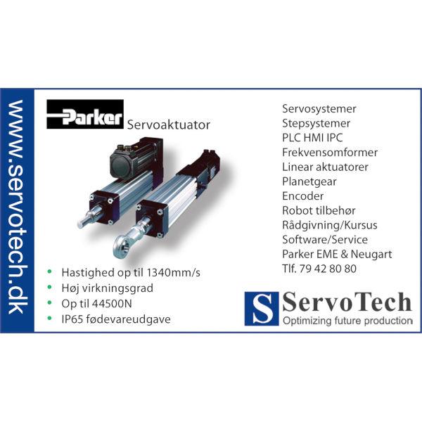 ServoTech Annonce Servoaktuator Parker 2010