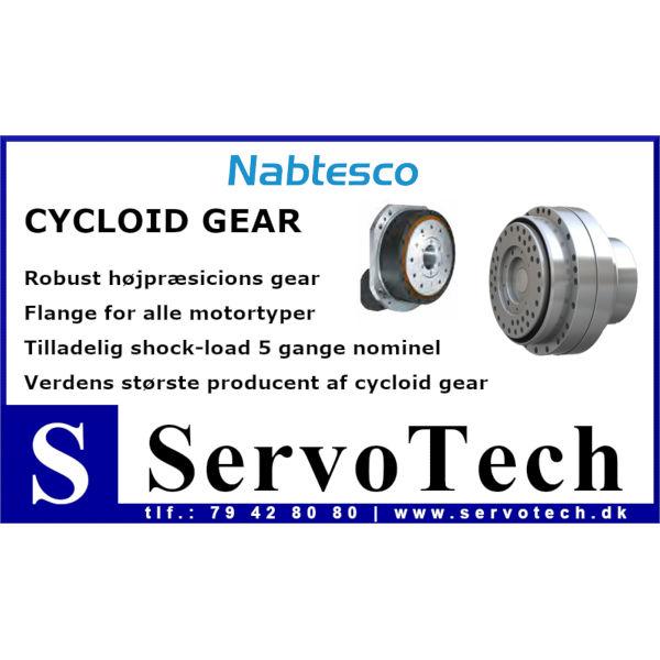 ServoTech Annonce Cycloid Gear Nabtesco 2019