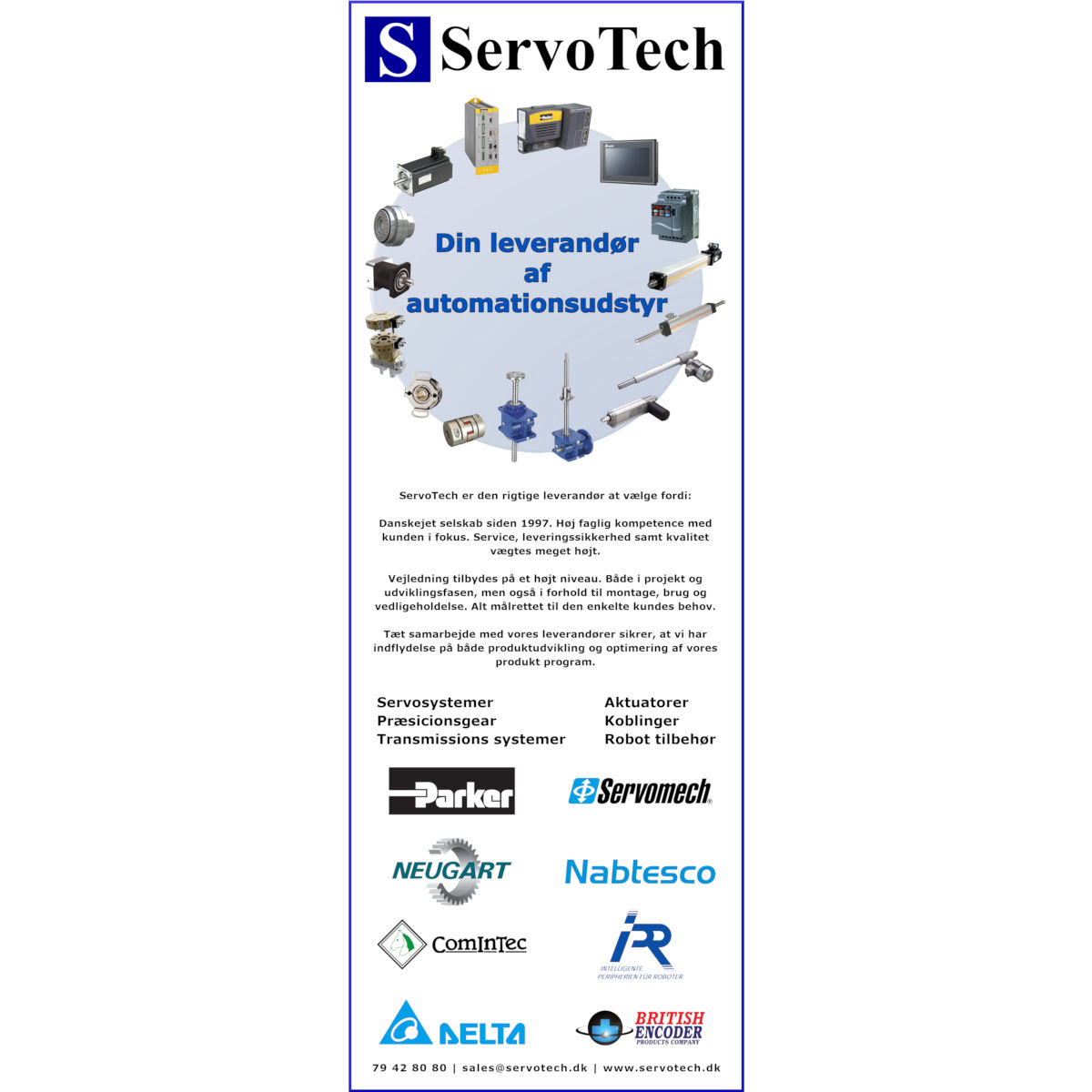 ServoTech Annonce Produktcirkel 2019