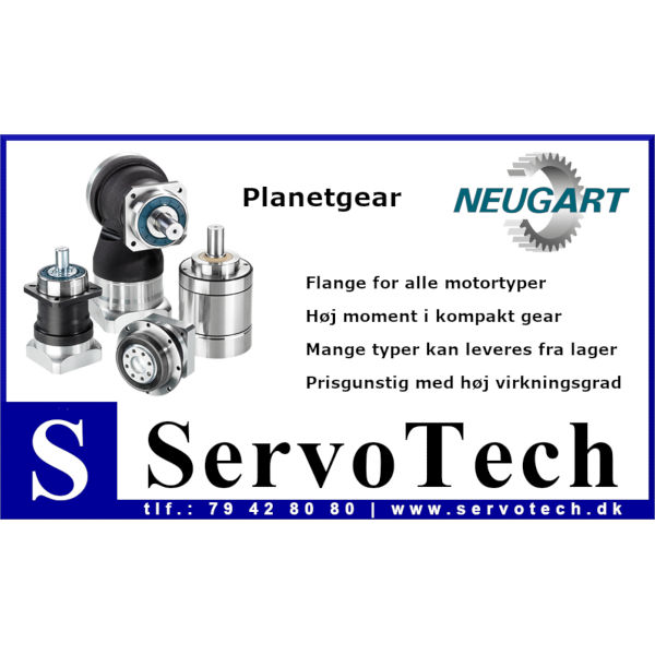 ServoTech Annonce Planetgear Neugart 2019