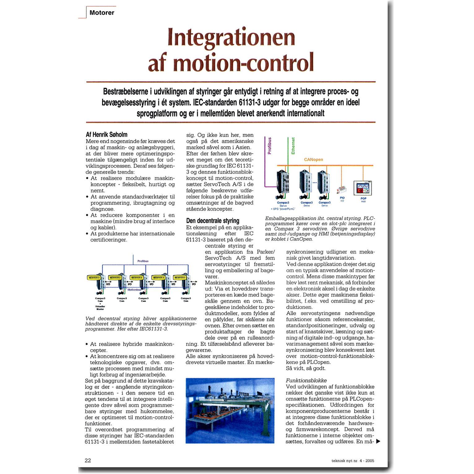 Integration af motion-control