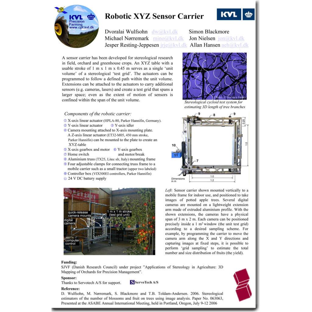 Robotic XYZ Sensor Carrier